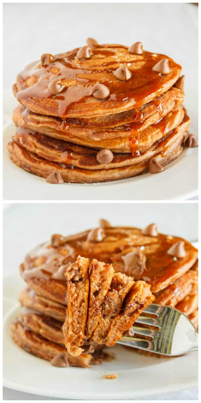 Salted Caramel Hot Chocolate Pancakes 3