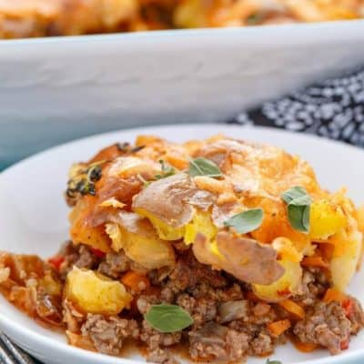 Smashed Potato Shepherd's Pie (Cottage Pie)