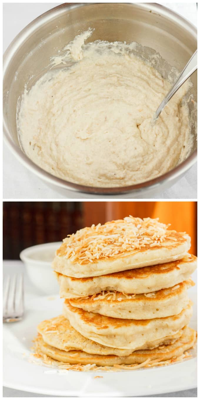 Toasted Coconut Pancakes 1