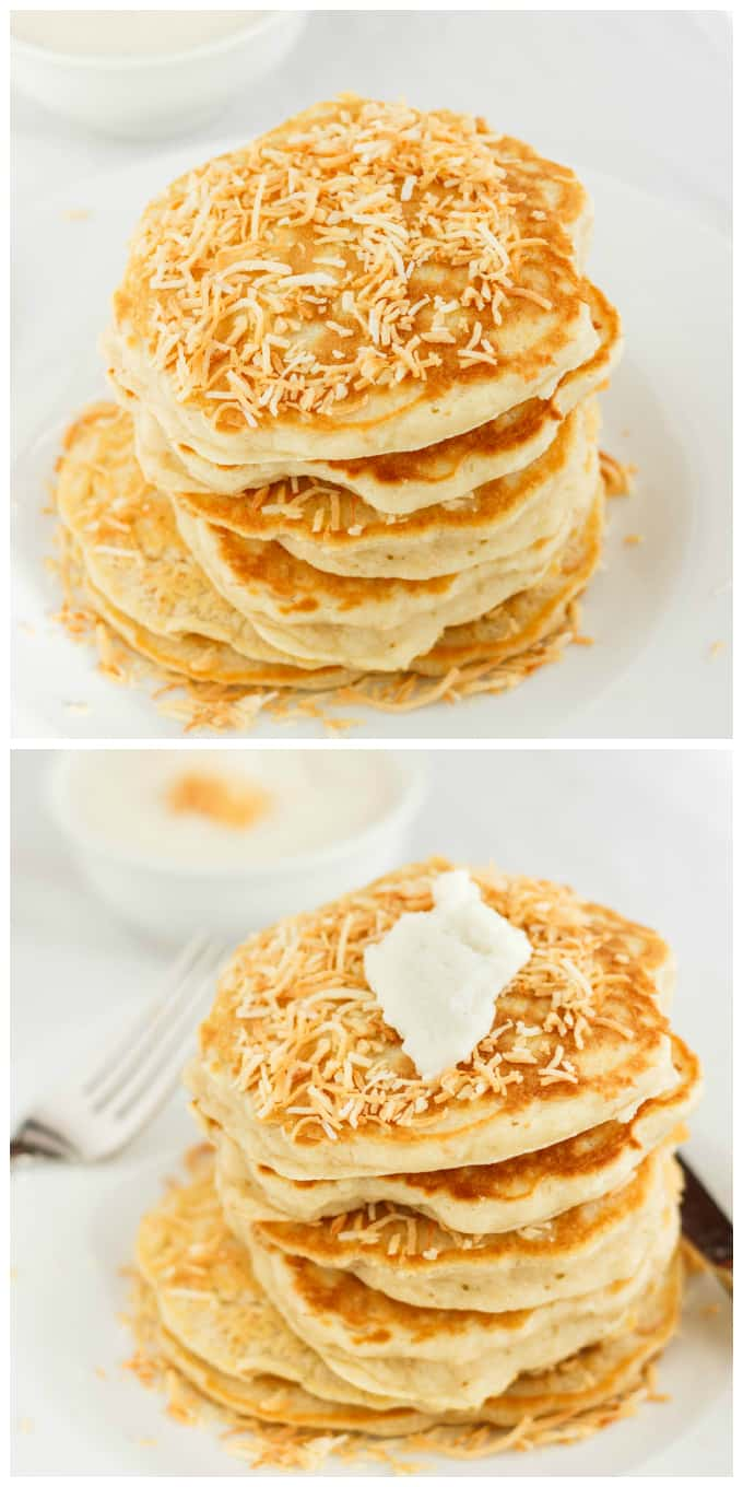 Toasted Coconut Pancakes 2