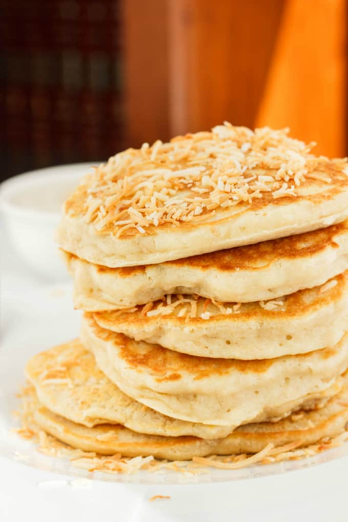 Toasted Coconut Pancakes 4