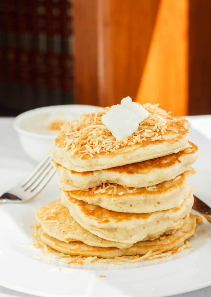 Toasted Coconut Pancakes 5