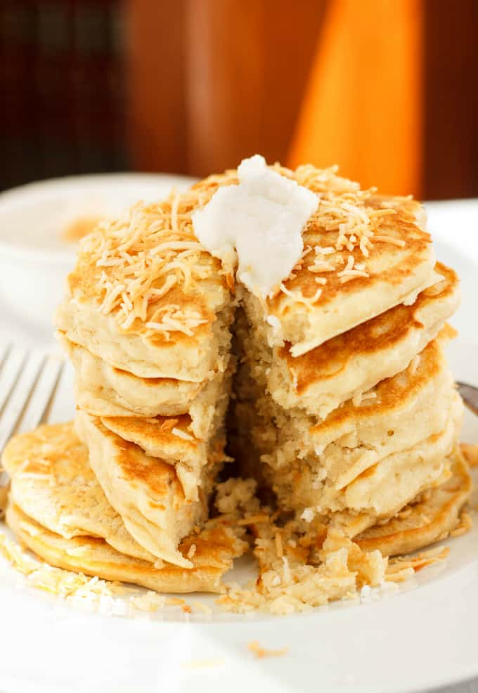 Toasted Coconut Pancakes 6