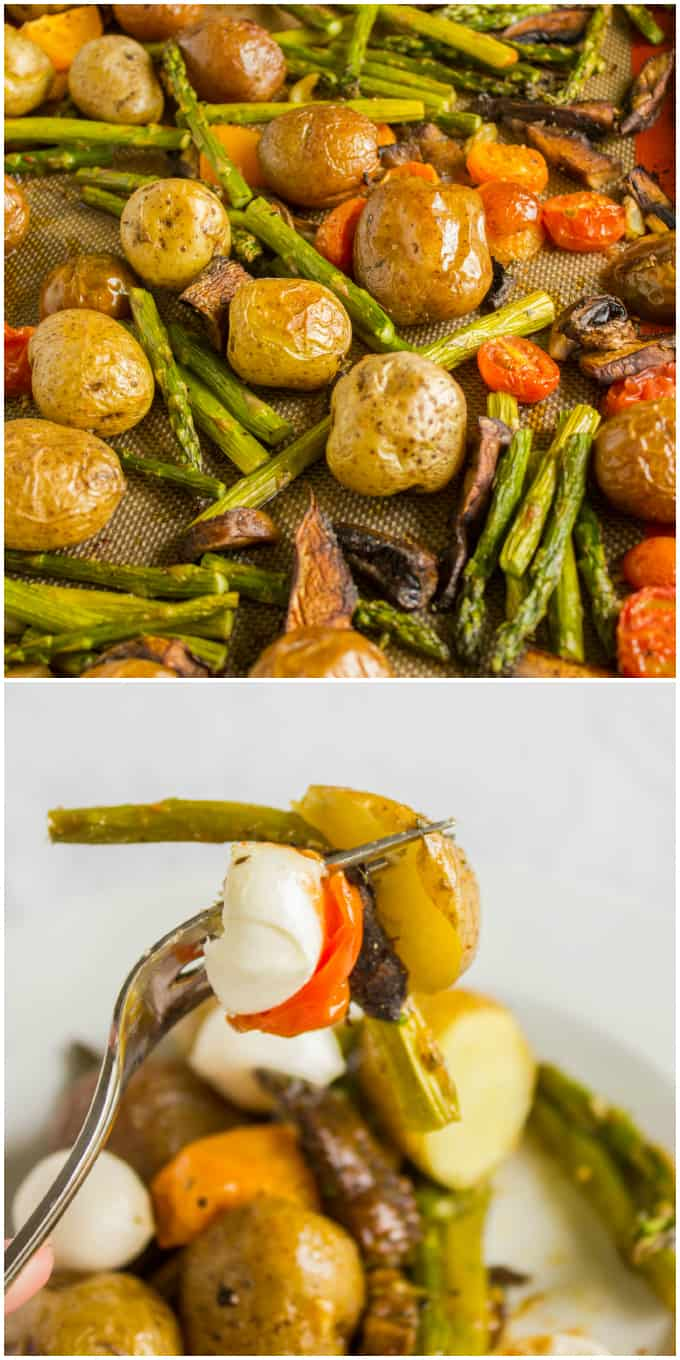 Easy Creamer Potatoes with Roasted Vegetables (Microwave Ready) 8