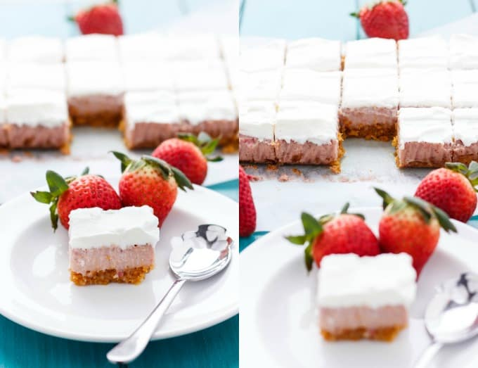Easy Strawberry Squares #easy