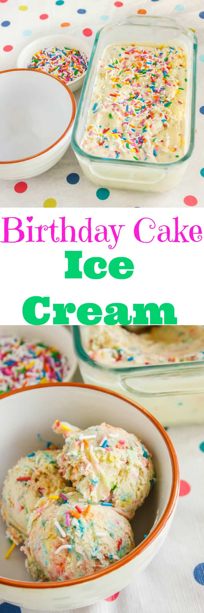 Homemade Birthday Cake Ice Cream The Cookie Writer