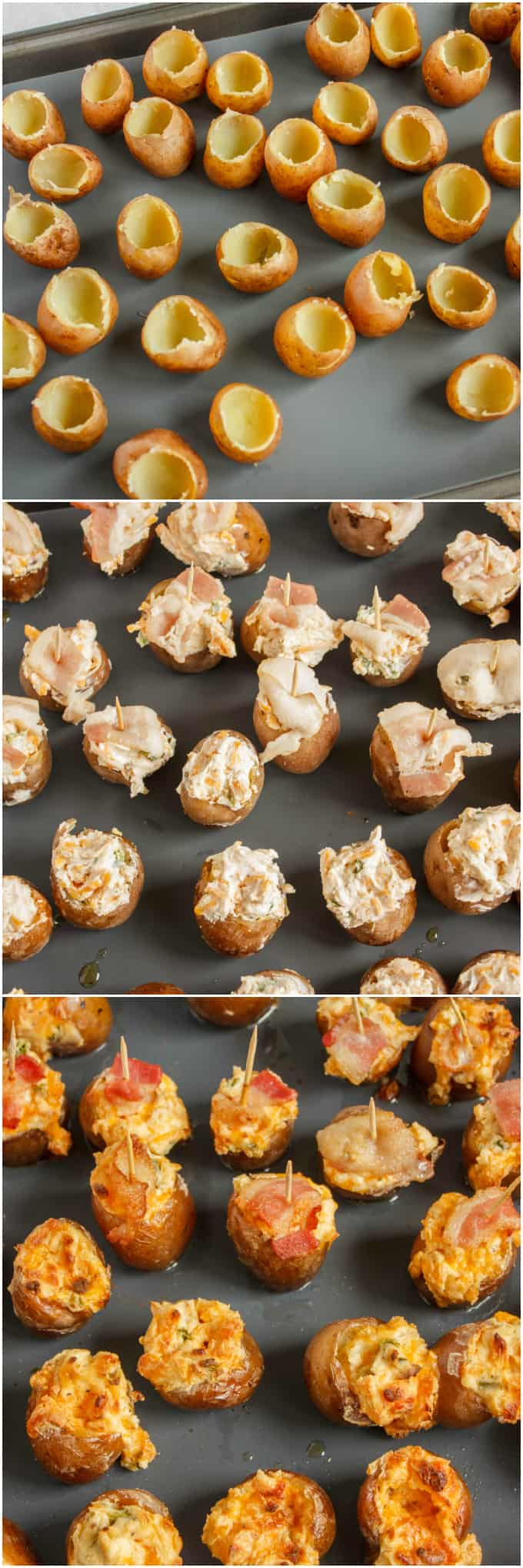 Jalapeno Popper Stuffed Creamer Potatoes 5