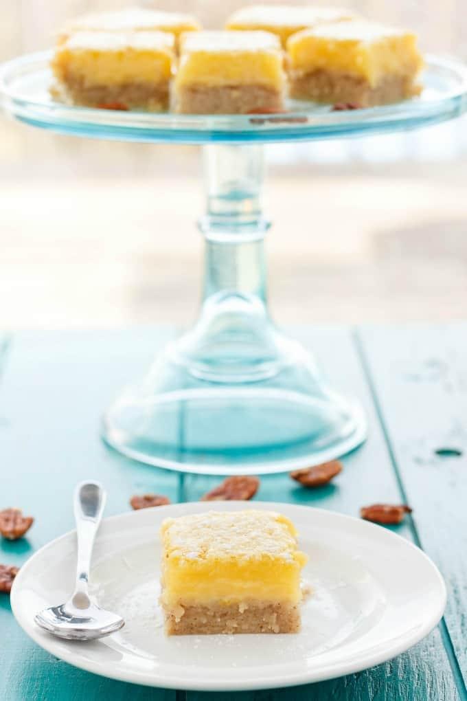 Pecan and Lemon Bars #dessert