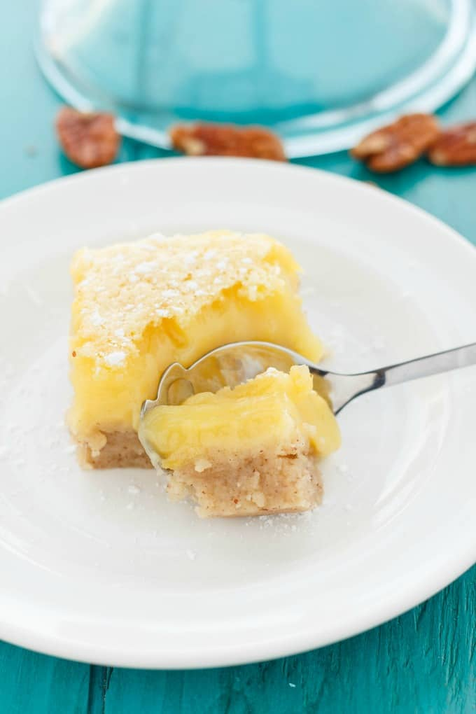 Pecan and Lemon Bars #lemon