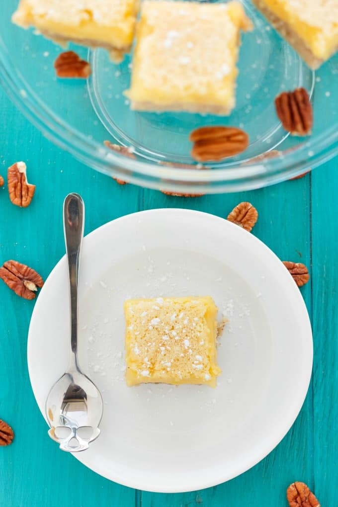 Pecan and Lemon Bars #vegetarian