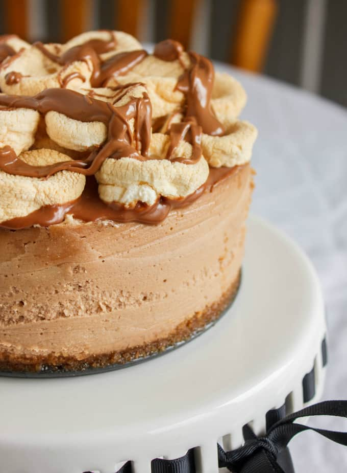 mores Cheesecake (6-inch pan) - The Cookie Writer