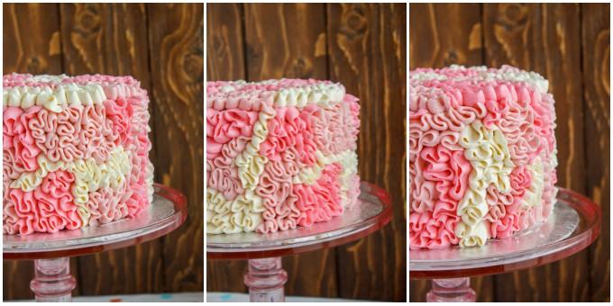 Zebra Cake with Messy Ruffles 1