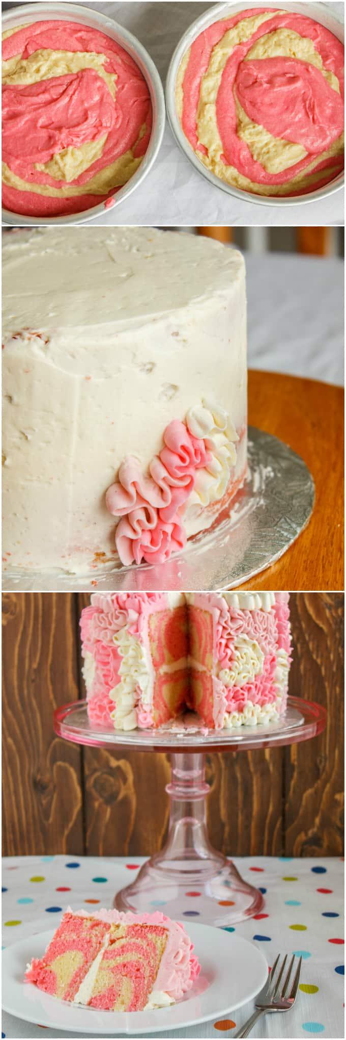 Zebra Cake with Messy Ruffles 4