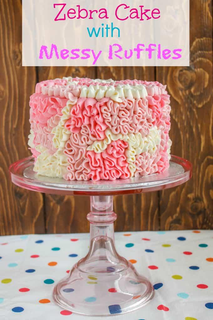 Zebra Cake with Messy Ruffles 7