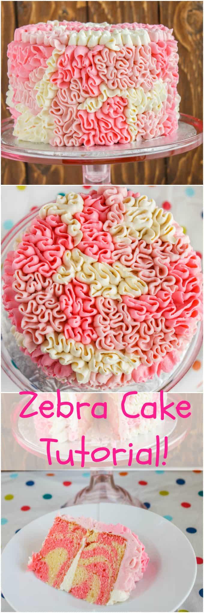 Zebra Cake with Messy Ruffles 8