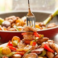 Breakfast Throw-Together: Creamer Potatoes with Sausage and Peppers
