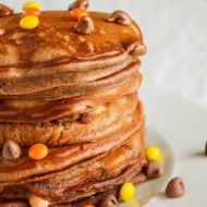 Chocolate, Banana, and Peanut Butter Pancakes