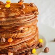 Chocolate, Banana, and Peanut Butter Pancakes