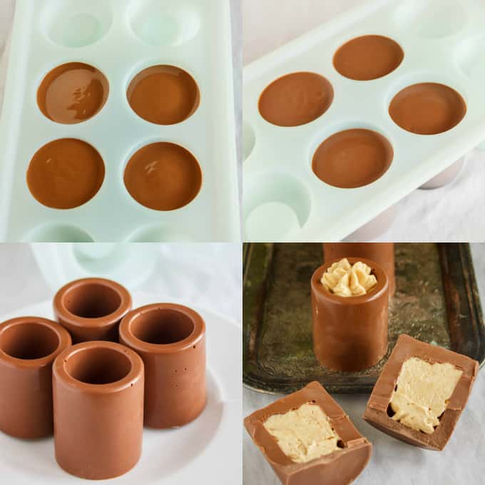 Chocolate Shot Glasses With Peanut Butter Mousse The