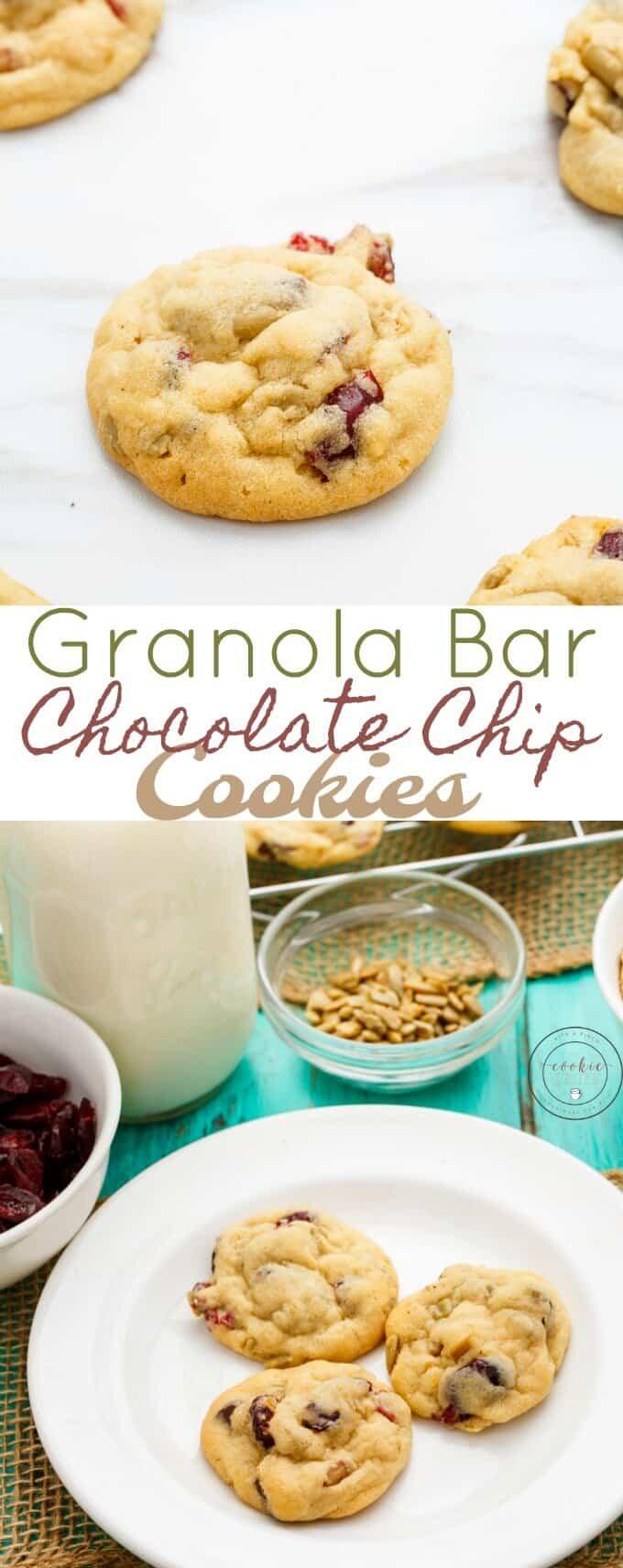 Granola Bar Chocolate Chip Cookies