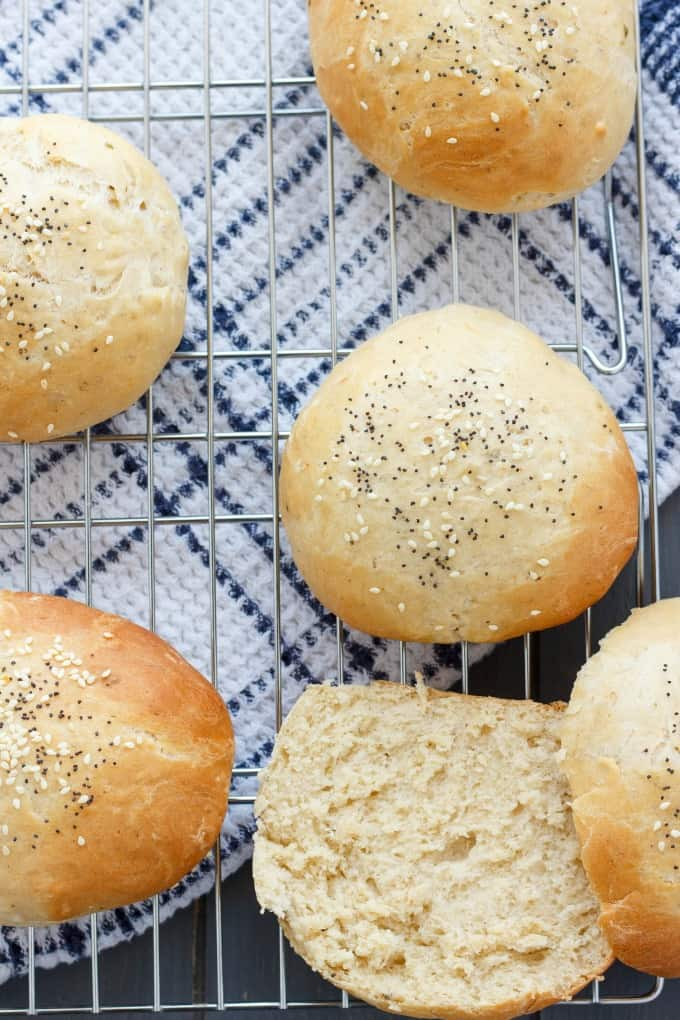 Homemade Hamburger Buns #bread