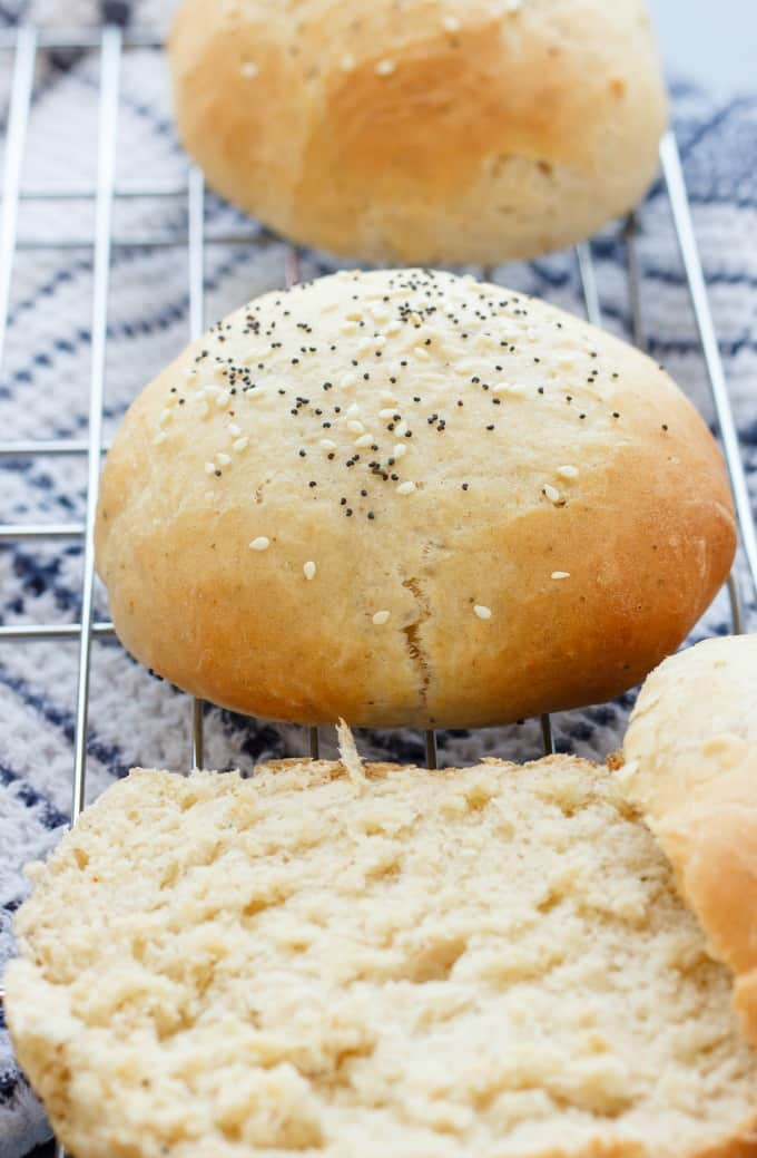 Homemade Hamburger Buns #homemade