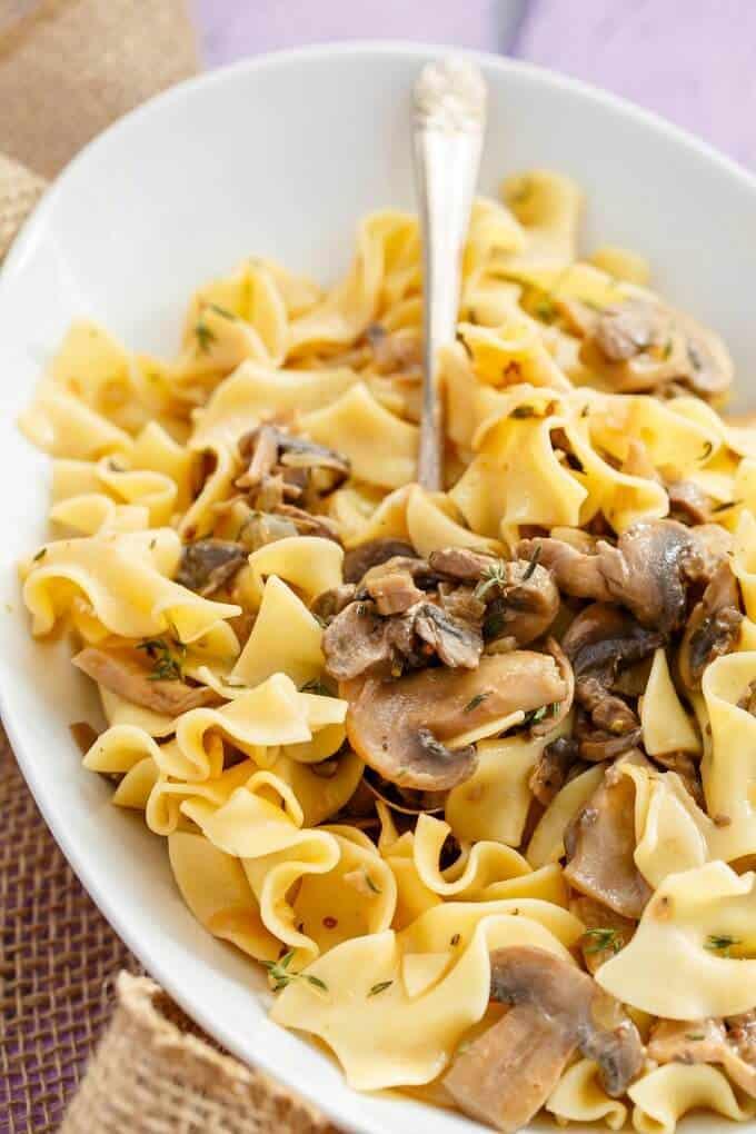 Vegetarian Mushroom Stroganoff - The Cookie Writer