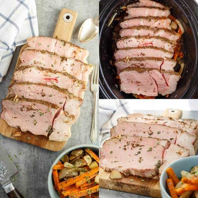 Pork Shoulder with Vegetables in the Slow Cooker