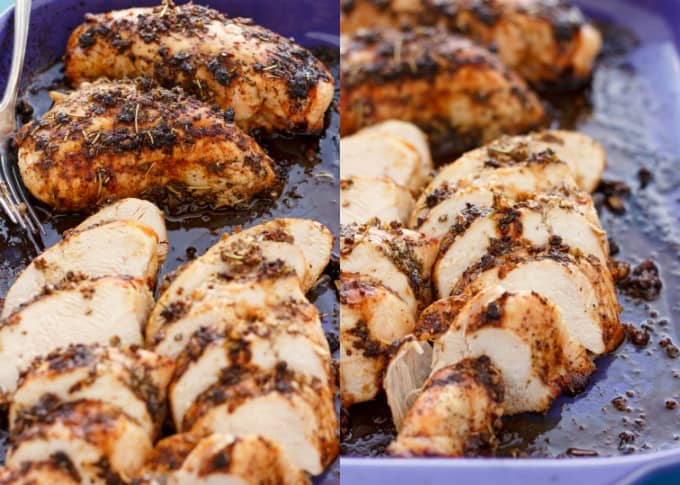Baked Balsamic Chicken #glutenfree