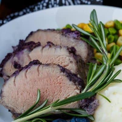 Blueberry Molasses Pork Tenderloin (Baked or Grilled!)