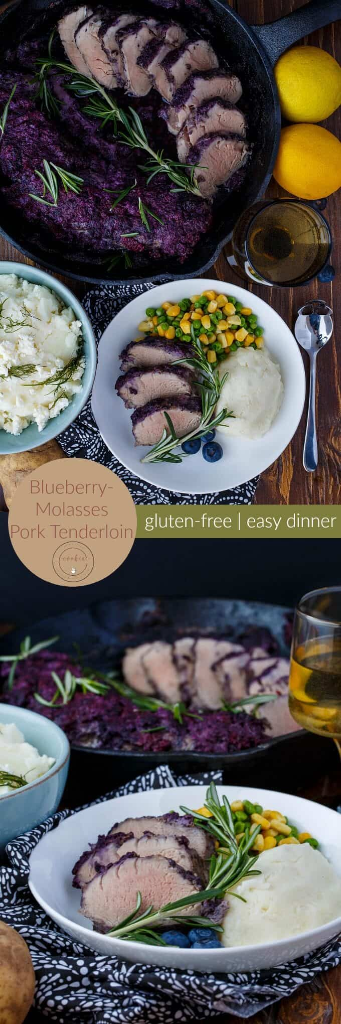 Blueberry Molasses Pork Tenderloin