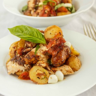Roasted Potato and Chicken Caprese Salad 2