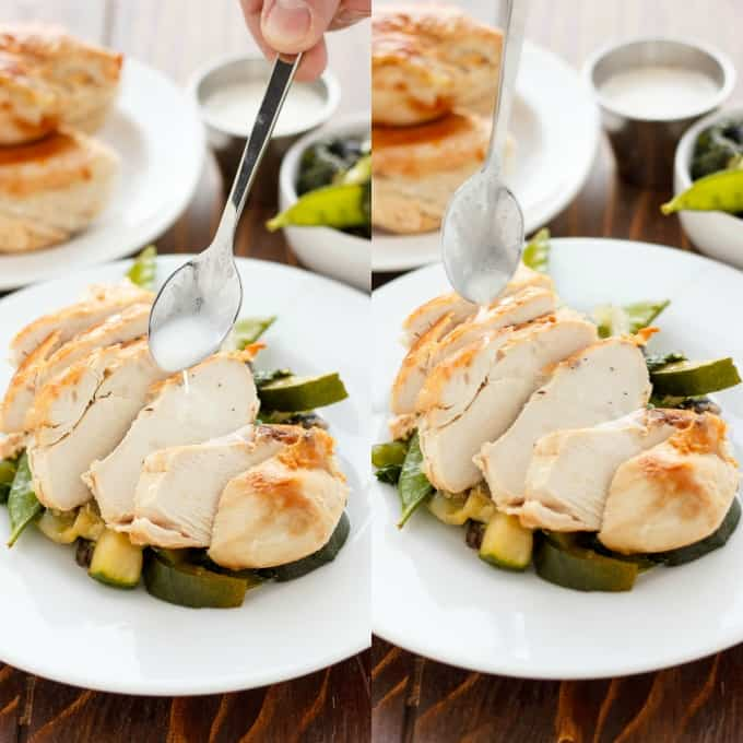 Coconut and Lime Chicken with Mixed Asian Vegetables #healthy