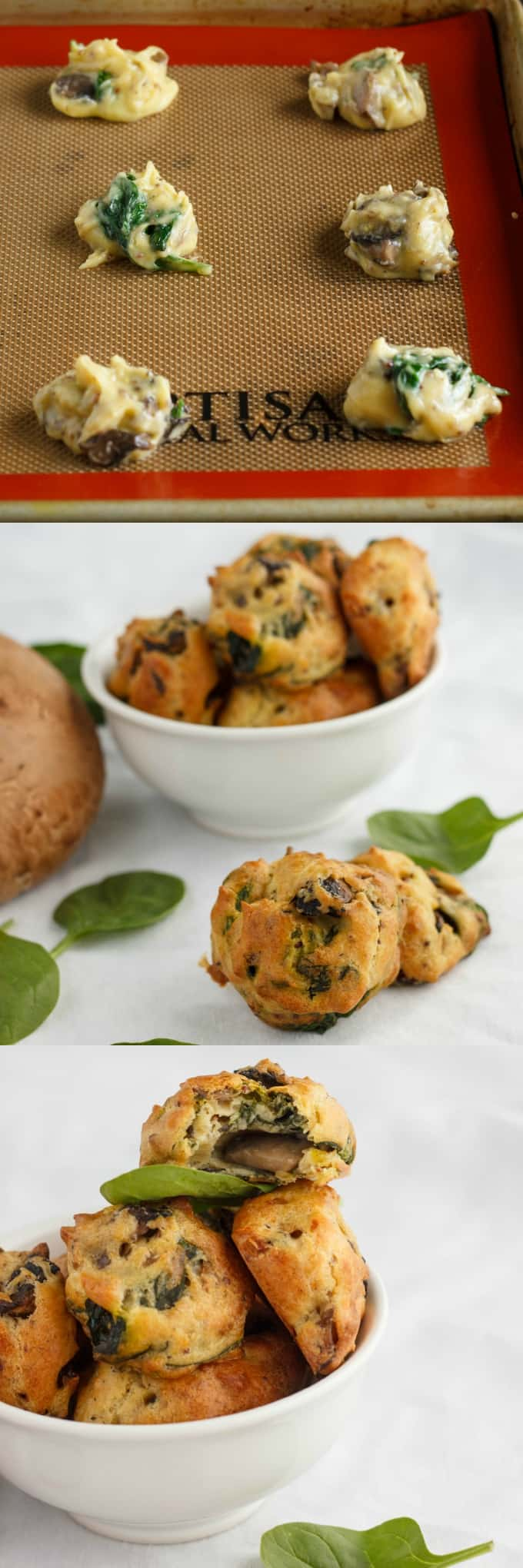Mushroom and Spinach Puffs 3