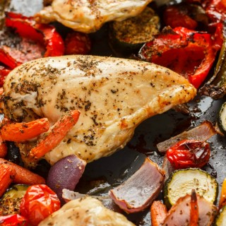 Roasted Bone-In Chicken Breasts with Vegetables 3