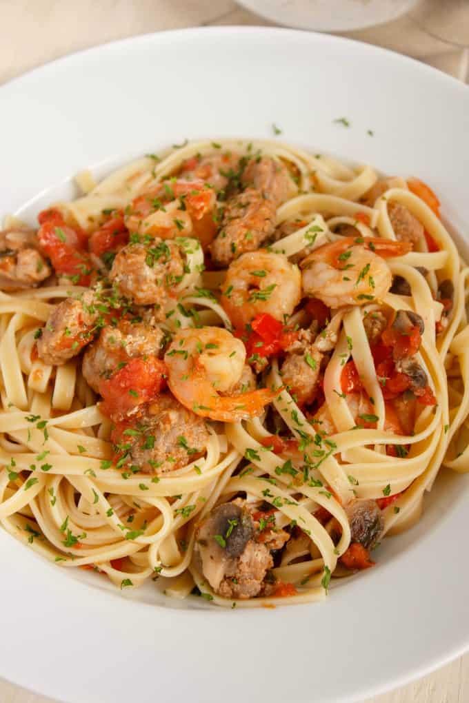 Shrimp and Sausage Pasta Sauce 3