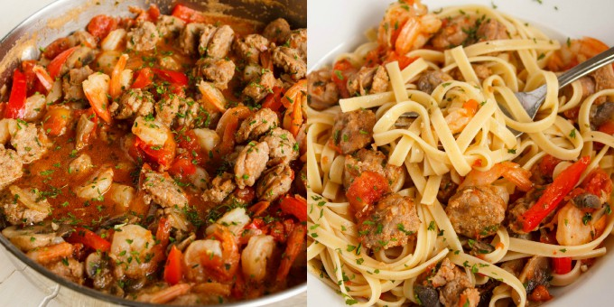 recipe: italian sausage and shrimp recipes [4]