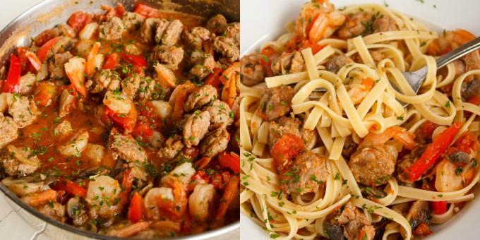 Shrimp and Sausage Pasta Sauce 4