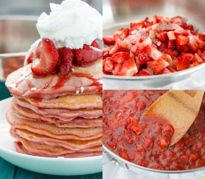 These strawberries and cream pancakes have been a long time coming ...