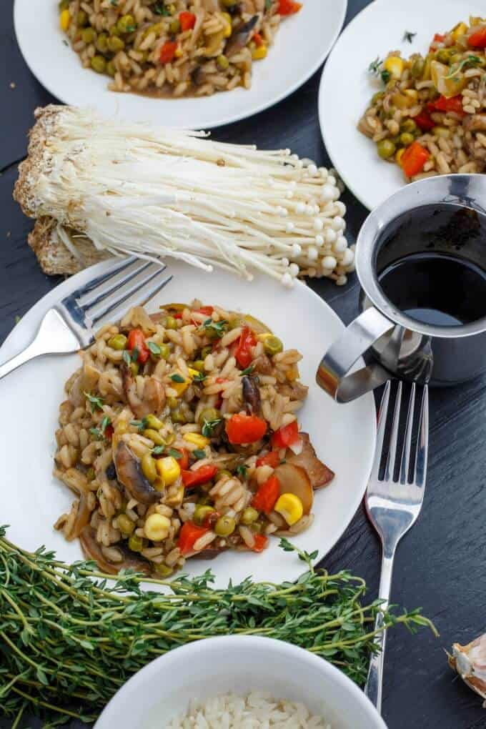 Vegetable Risotto with Homemade Chicken Stock