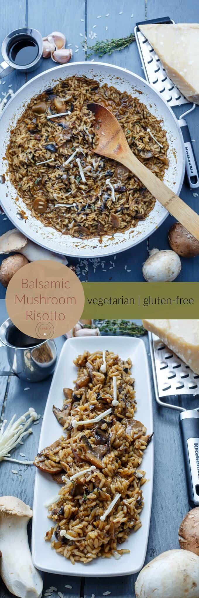 Balsamic Mushroom Risotto