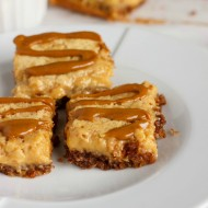 Banana Bread Bars with a Peanut Butter-Molasses Drizzle