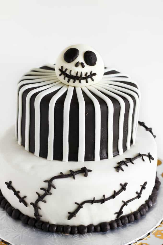 Nightmare Before Christmas Cake (Jack Skellington Cake) 2