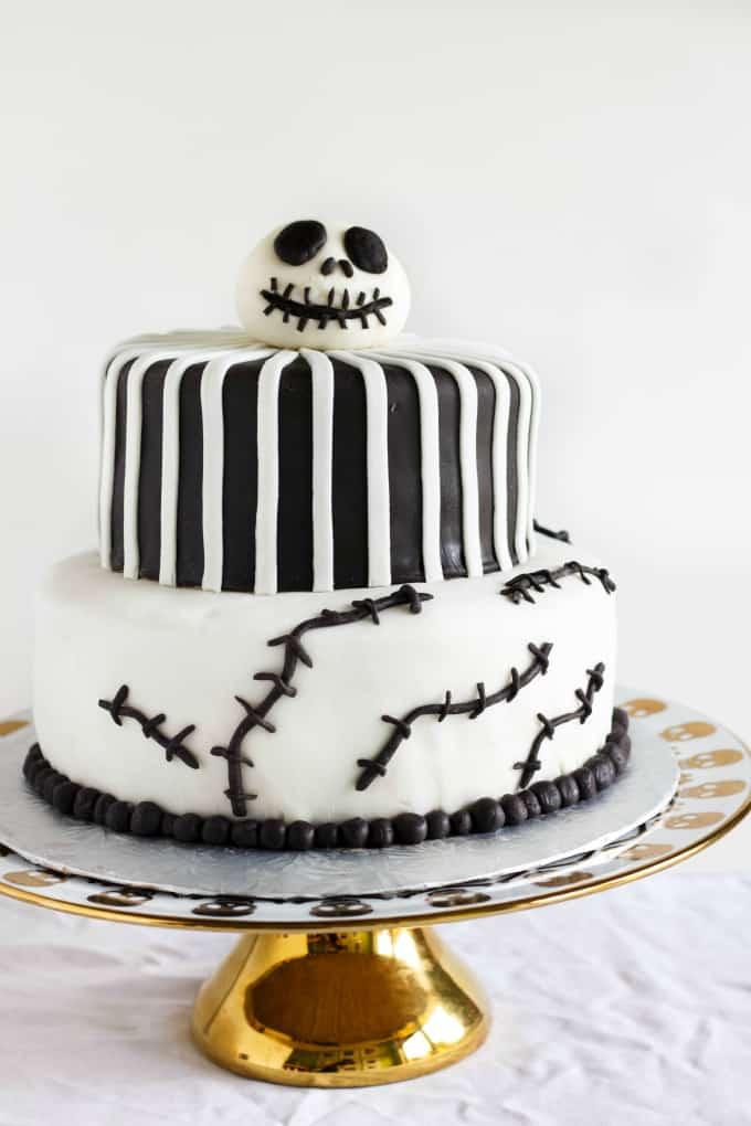 Nightmare Before Xmas Wedding Cake