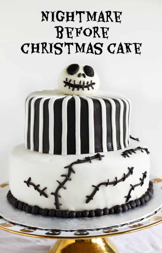 Nightmare Before Christmas Cake (Jack Skellington Cake) 6