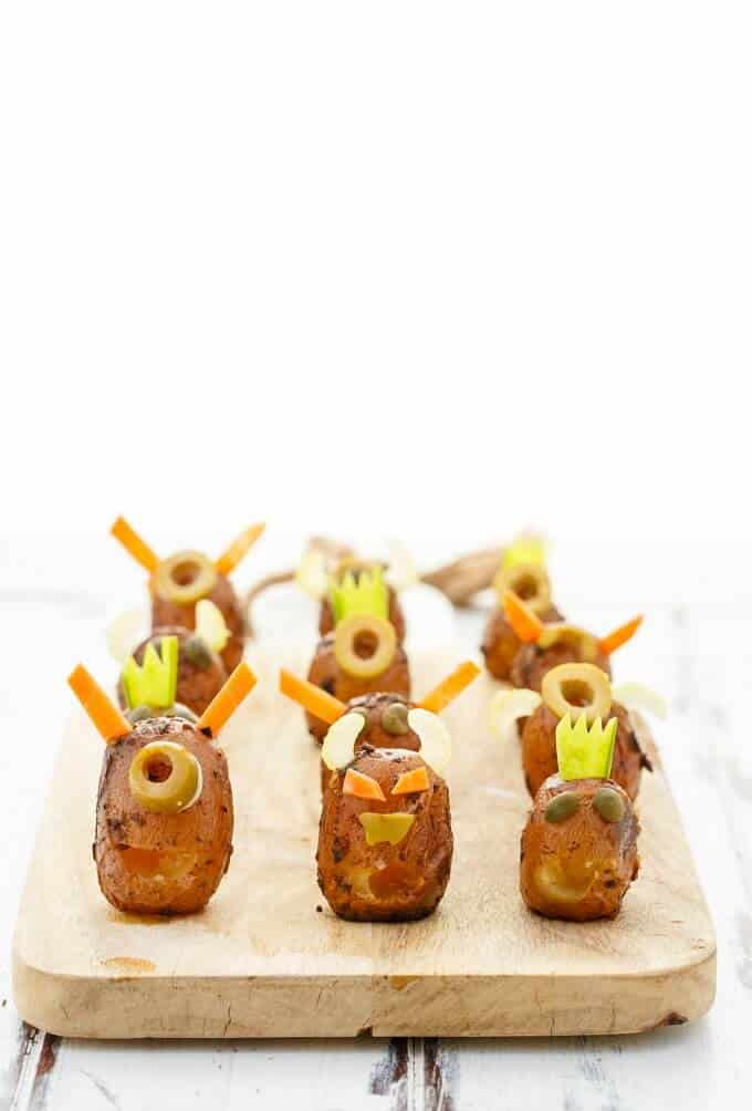Vomiting Potato Monsters (for Halloween!)