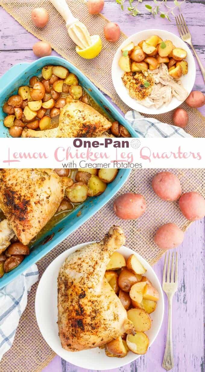 One-Pan Lemon Chicken Leg Quarters with Creamer Potatoes