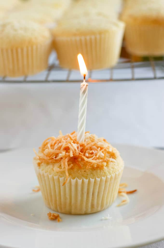 Toasted Coconut Cupcakes with Coconut Glaze 2