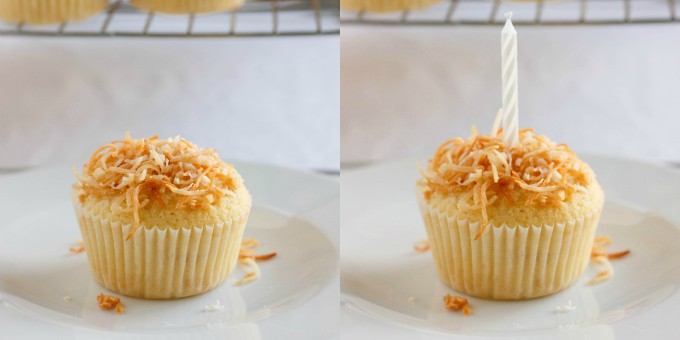 Toasted Coconut Cupcakes with Coconut Glaze 4