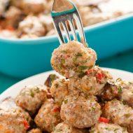 Turkey Meatballs in a Creamy Portobello Mushroom Sauce